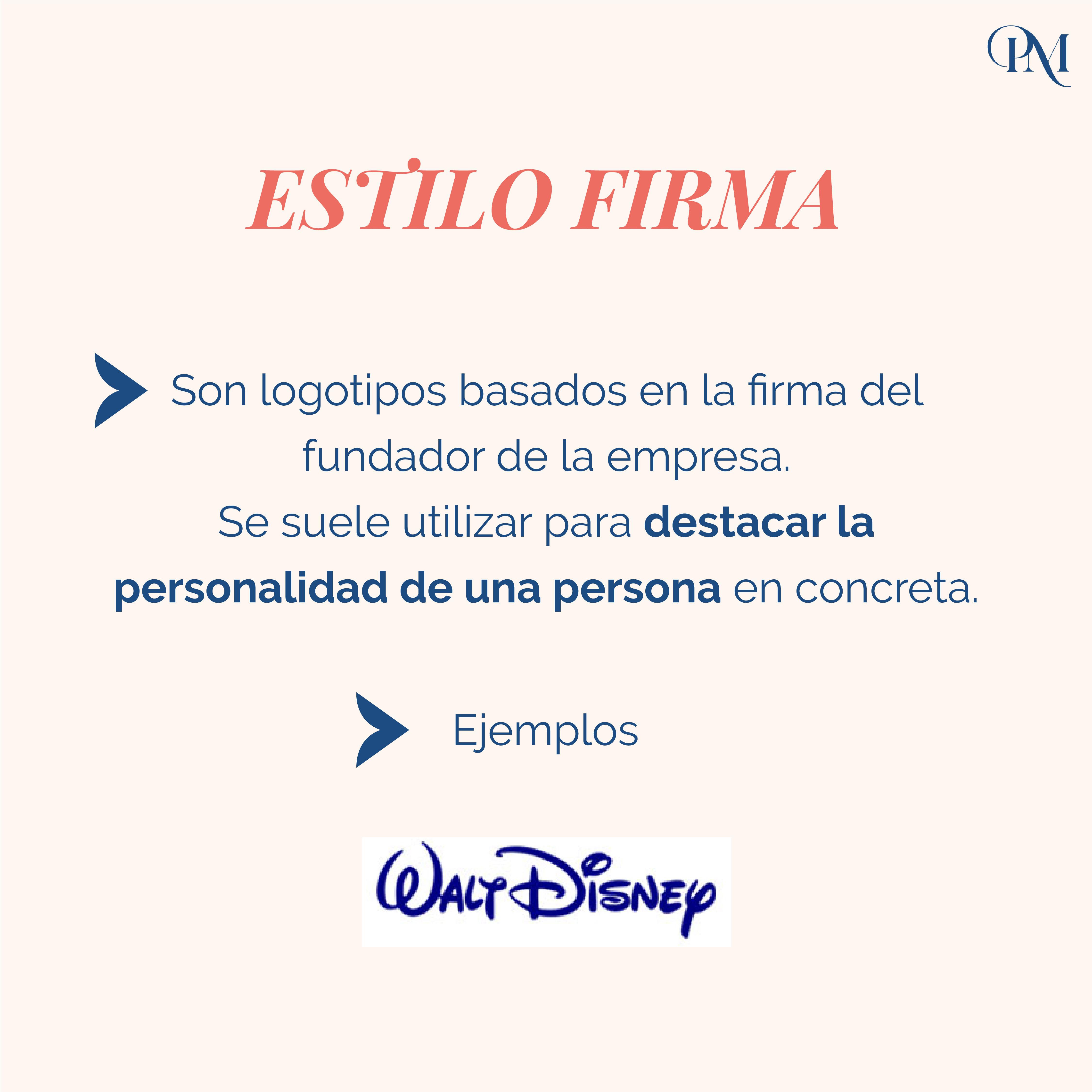 TIPOS DE LOGO - ESTILO FIRMA